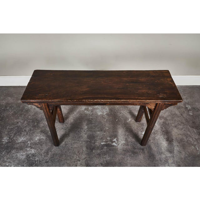 18th Century Chinese Elm Altar Table For Sale - Image 4 of 11