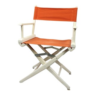 1960s Vintage Telescope Foldable Folding Directors Patio Chair For Sale