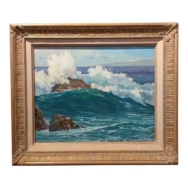 "Paul Youngman ""Pacific Grove California Seascape"" Original Oil Painting For Sale"