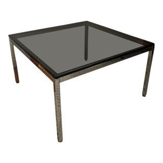 Vintage Square Chrome & Smoked Glass Coffee Table