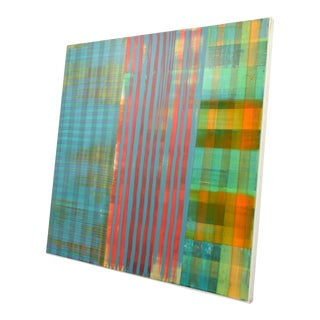 Gene Davis Inspired Large Paul Aho Abstract Painting For Sale