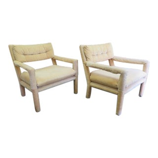 Mid-Century Modern Parsons Style Lounge Chairs- A Pair For Sale