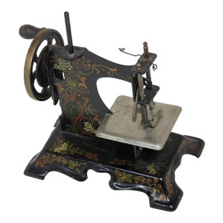 Antique Childs Size Toy Sewing Machine For Sale