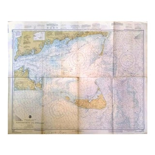 Vintage 1977 Nantucket Sound & Approaches Nautical Chart Map
