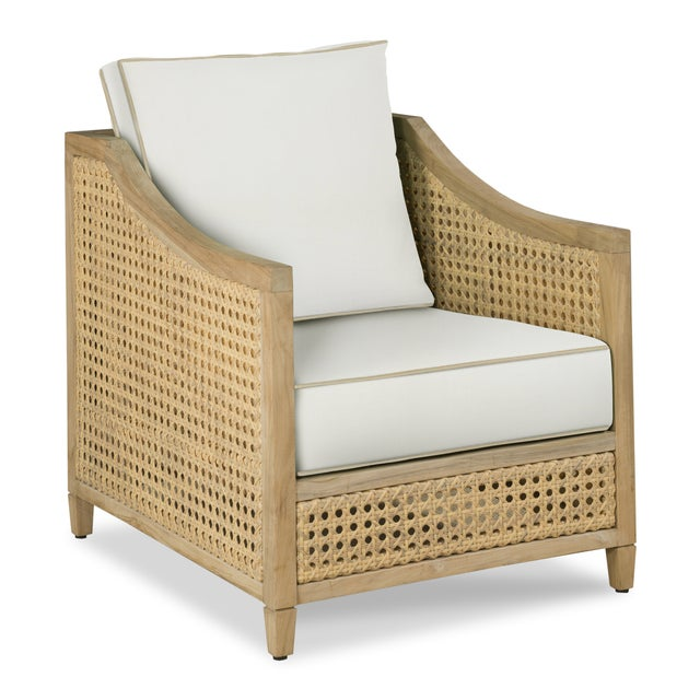 Casa Cosima Keys Occasional Arm Chair,White and Antique Beige For Sale - Image 4 of 4