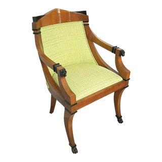 Villa Garnelo Internatcional Of Spain Biedermeier Style Armchair For Sale
