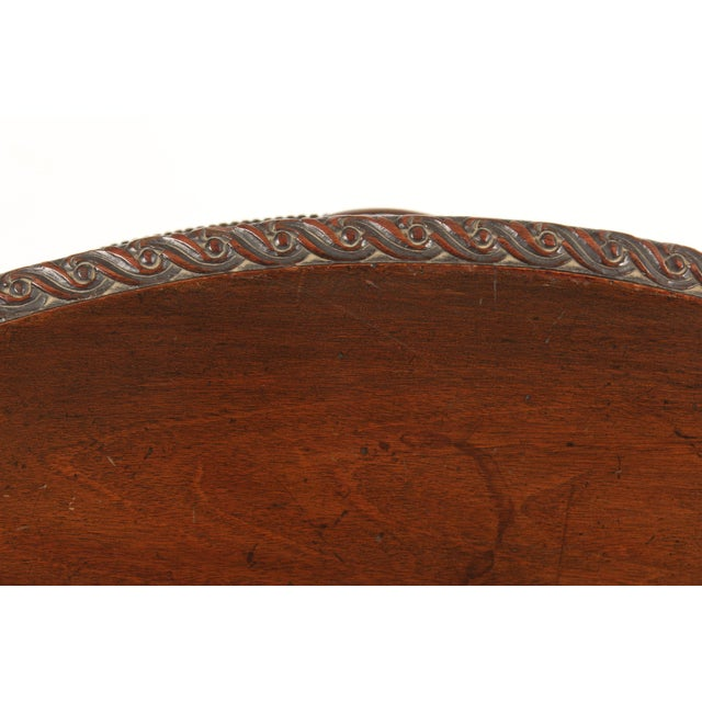 English Neo Classical Style Mahogany Center Table For Sale - Image 11 of 13