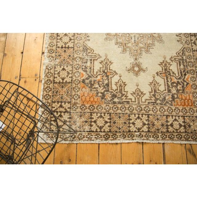 "Vintage Distressed Oushak Rug - 4'3"" x 6'3"" - Image 4 of 9"