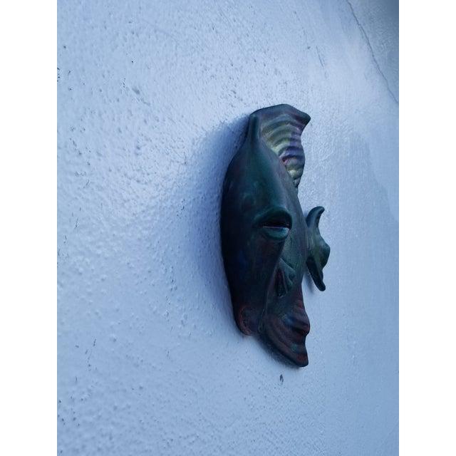 Modern Signed Wall Art Hanging Decorative Raku Fish Sculptures - a ...