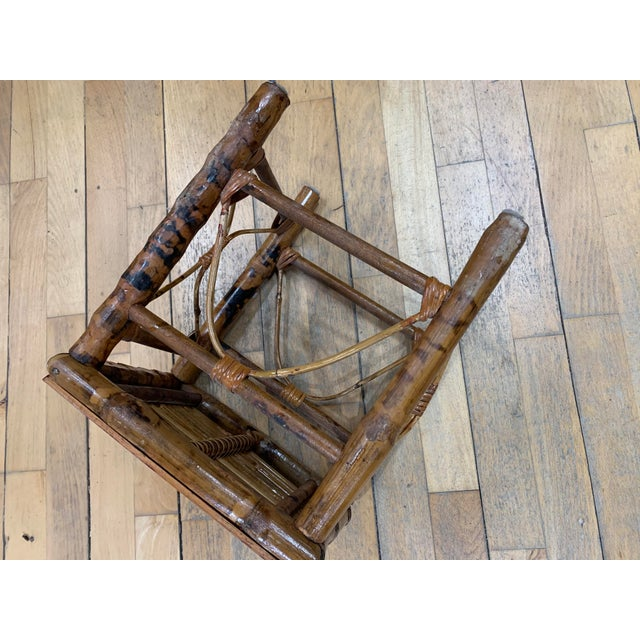 Wood Vintage Asian Bamboo Nesting Tables - Set of 2 For Sale - Image 7 of 9
