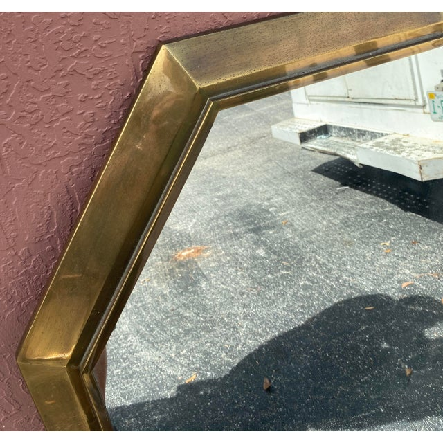 Mastercraft Vintage Mastercraft Brass Console Mirror For Sale - Image 4 of 6