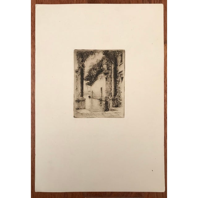 Early 20th Century 20th Century Dry Point Etchings - a Pair For Sale - Image 5 of 8