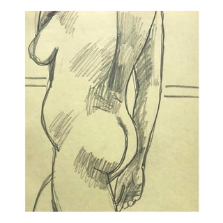 1970s James Bone Standing Female Nude Drawing For Sale