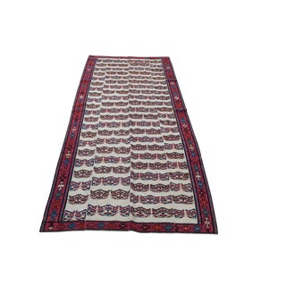 Late 20th Century Persian Kilim Runner Rug - 3′8″ × 9′4″ For Sale