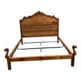 Image of Ralph Lauren Rustic Country Pine King Bedframe For Sale