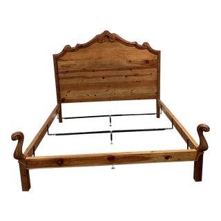 Ralph Lauren Rustic Country Pine King Bedframe For Sale