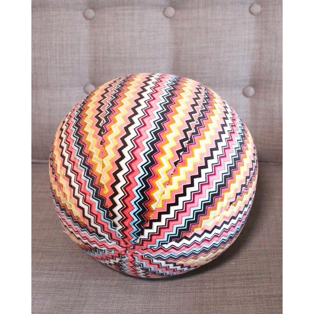"Missoni Vintage Missoni Chevron Pattern Ball Pillow 8"" For Sale - Image 4 of 6"