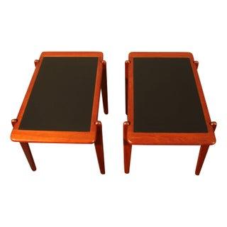Danish Teak & Laminate Reversible Tables - A Pair