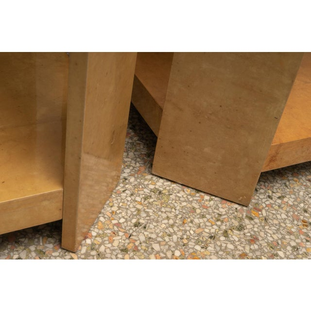 Late 20th Century Modern Goatskin End Tables - a Pair For Sale - Image 5 of 10
