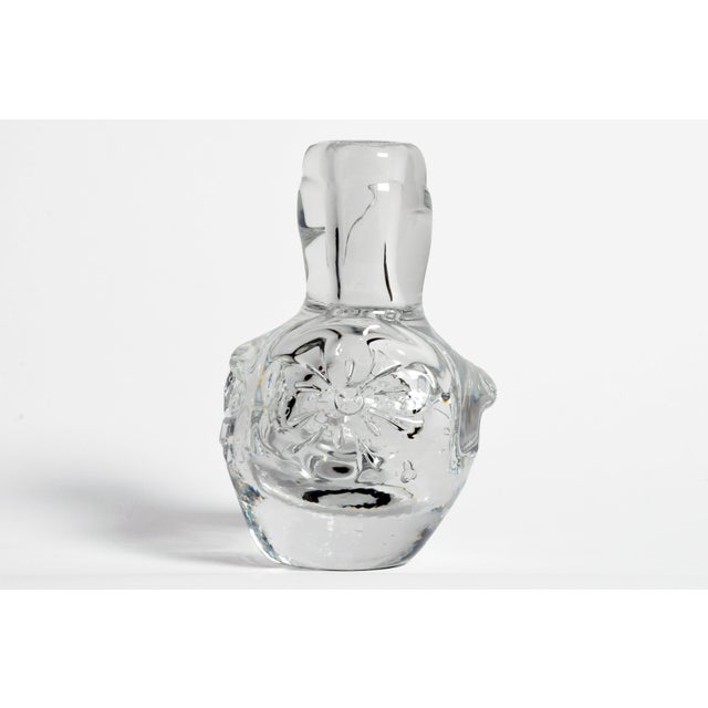 Hand-Blown Glass Imprints of Indian Print Block Vase For Sale - Image 11 of 11