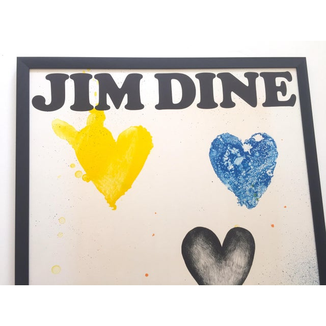 Jim Dine Rare Vintage 1970 Framed Silkscreen Print Whitney Museum Collector's Pop Art Exhibition Poster For Sale - Image 9 of 13