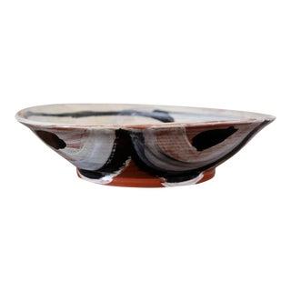 Don Nakamura Large Shallow Terracotta Bowl For Sale