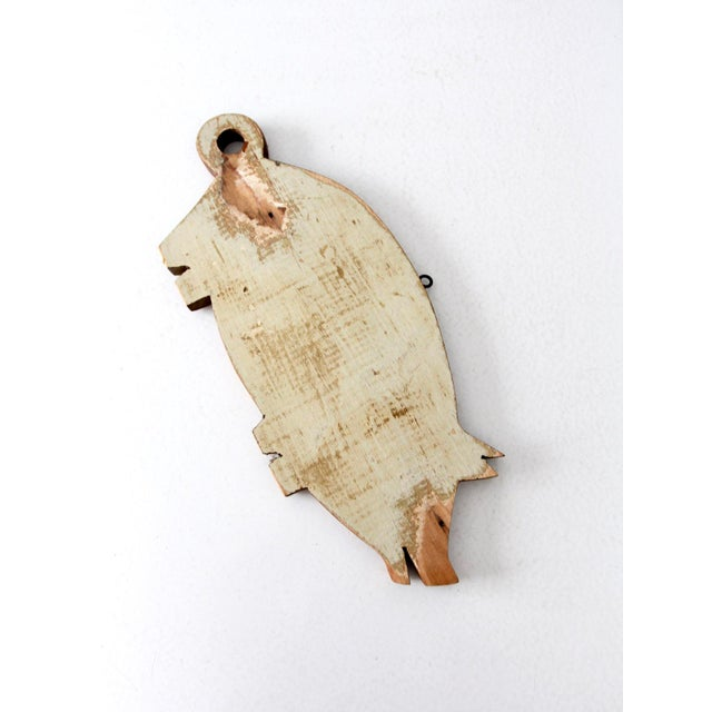 Vintage Wooden Pig Cutting Board For Sale - Image 4 of 7