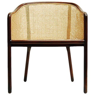 Vintage Mid Century Ash Wood and Cane Chair by Ward Bennett for Brickel Associates For Sale