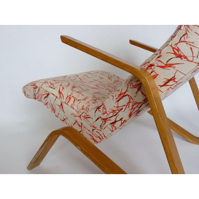 Contemporary Eero Saarinen Grasshopper Chair With Vintage Knoll Fabric For Sale - Image 3 of 4