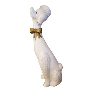 1960s Vintage Ceramic Tall French Poodle Figurine For Sale