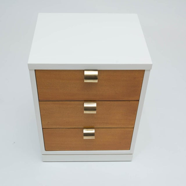 Mid-Century Modern Mid-Century Modern Lacquered Three-Drawer Nightstand For Sale - Image 3 of 8