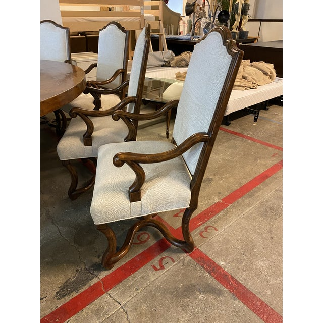 Michael Taylor Table + Set of 10 Custom Design Chairs Dining Set For Sale - Image 9 of 13