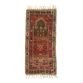 Vintage Turkish Oushak Prayer Rug, 02'05 X 05'02 For Sale