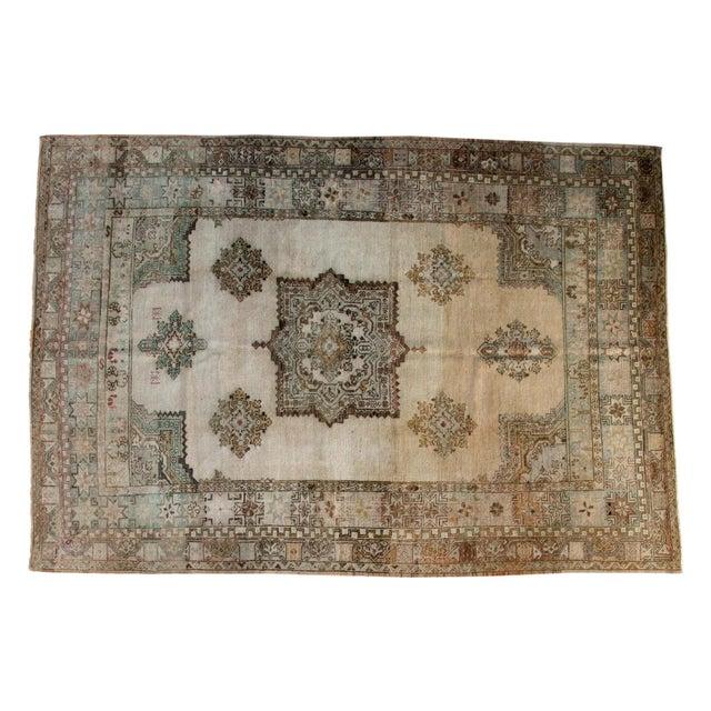 "Vintage Oushak Carpet - 6'11"" x 9'11"" For Sale"