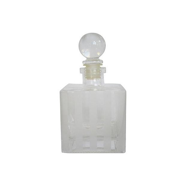 Art Deco Striped Glass Decanter - Image 2 of 2