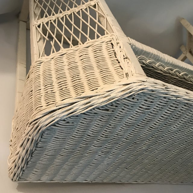 White Wicker Console or Dressing Table For Sale - Image 11 of 13