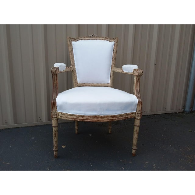 18th Century French Antique Armchair For Sale - Image 4 of 8