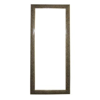 Black and White Geometric Bone Floor Mirror For Sale