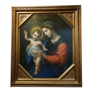 Madonna With Child Oil Painting After Carlo Dolci