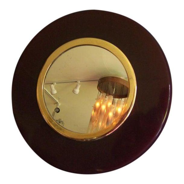 A Deco Eggplant Colored Bakelite Vanity Mirror - Image 1 of 4