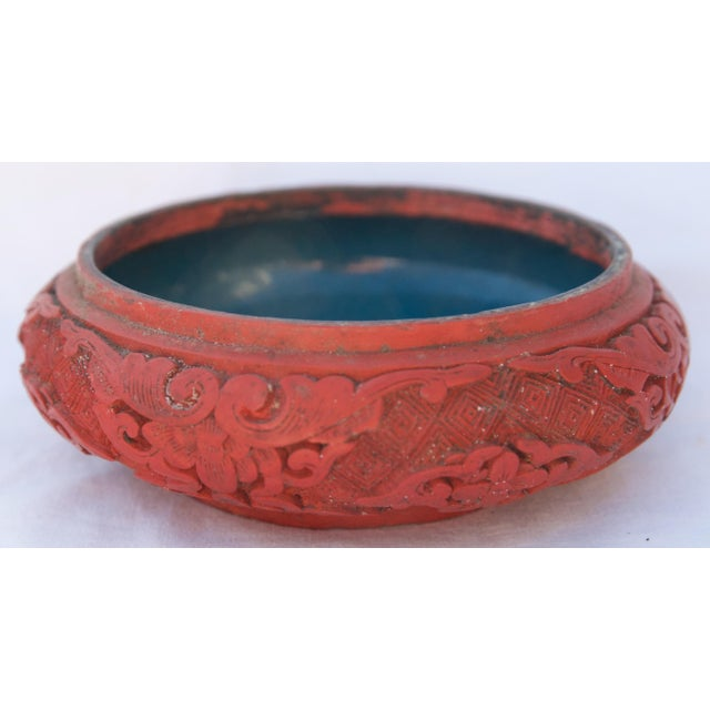 Antique Asian Cinnabar Bowl For Sale In New York - Image 6 of 11