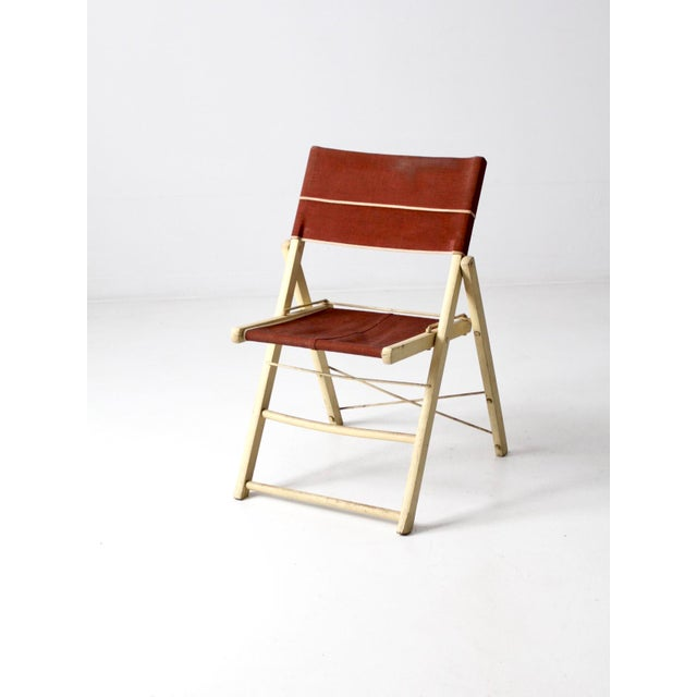 Brown Mid-Century Folding Chair For Sale - Image 8 of 8