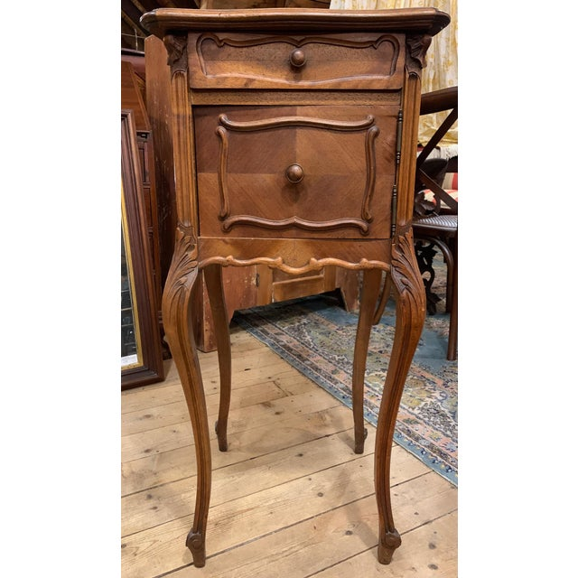 1920s 1920s French Walnut Bedside Cabinet For Sale - Image 5 of 7