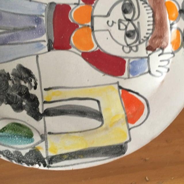 "DeSimone DeSimone Italian Vintage Mid-Century 10"" Charger Plate For Sale - Image 4 of 8"