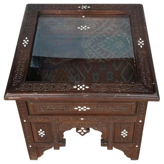 1990s Syrian Moroccan Mother of Pearl Side Table For Sale