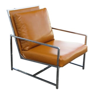 Mid Century Modern Living Bed Room Chrome Side Chair 2351 For Sale