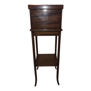 Antique English Mahogany Work Table For Sale