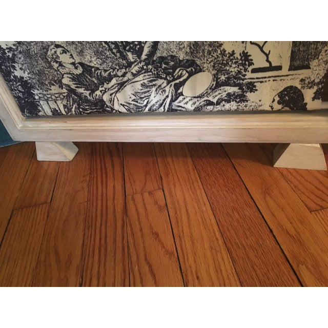 Black & White Toile Folding Screen For Sale - Image 5 of 6