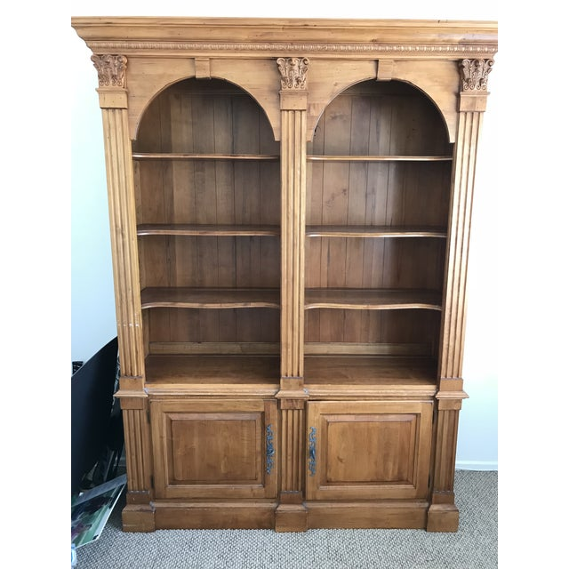 Traditional Ethan Allen Legacy Double Arch Library Bookcase Cabinet For Sale - Image 3 of 3