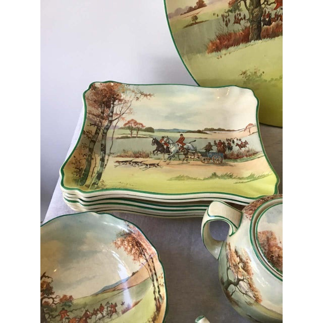 Royal Doulton Fox Hunting D 5104 Dish Set - 40 Pieces For Sale In New York - Image 6 of 8
